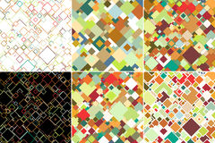 Set of abstract colored backgrounds, square design Stock Images