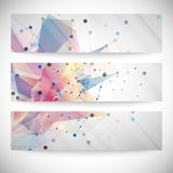 Set of abstract colored backgrounds, triangle Royalty Free Stock Images
