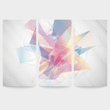 Set of Abstract colored backgrounds, triangle Stock Photo