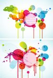 Set of abstract colored circles. Stock Photography