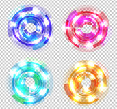Set of Abstract Colored Circles Stock Photos