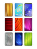 Set abstract colored drapery background Royalty Free Stock Photography