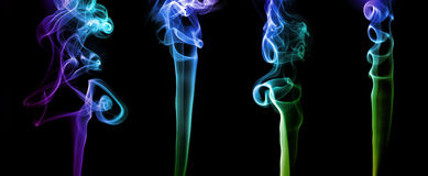 Set of abstract colored smoke Stock Photo