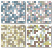 Set of abstract colorful background made of squares. Royalty Free Stock Images