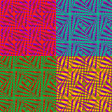 Set of 4 abstract colorful backgrounds for design, vector illustration. EPS10 Royalty Free Stock Photos
