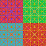 Set of 4 abstract colorful backgrounds for design, vector illustration. EPS10 Stock Photography