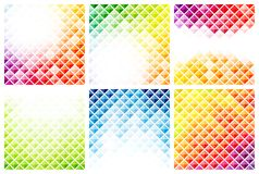 Set of abstract colorful backgrounds Stock Photography