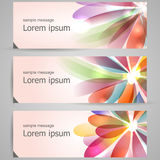 Set of abstract colorful banners Stock Photo