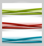 Set abstract colorful banners with lines stock illustration