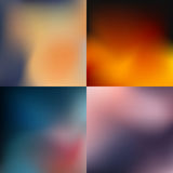 Set of abstract colorful blurred backgrounds. Vector illustration. Stock Image