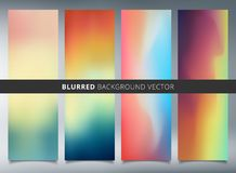 Set of abstract colorful blurred vector backgrounds. You can use for website, presentation, print, ad, mobile, poster, brochure, leaflet. Vector illustration vector illustration