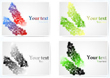Set of abstract colorful  cards Stock Photography