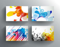 Set of abstract colorful cards. Stock Photography