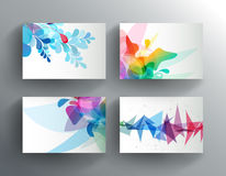 Set of abstract colorful cards. Royalty Free Stock Photography