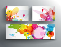Set of abstract colorful cards and web banner. Royalty Free Stock Image