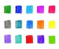 Set of abstract colorful elements Royalty Free Stock Images
