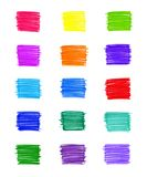 Set of abstract colorful elements. For design Royalty Free Stock Photo