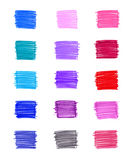 Set of abstract colorful elements Stock Photos