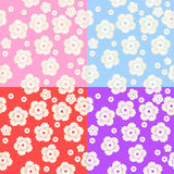 Set of Abstract Colorful Floral Pattern Royalty Free Stock Photos