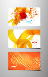 Set of abstract colorful gift cards. Stock Images