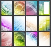 Set of abstract colorful  glowing background. Flyer, brochure or corporate banner. Stock Images