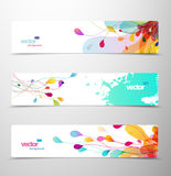 Set of abstract colorful headers. Vector art Royalty Free Stock Photography