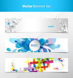 Set of abstract colorful headers. Stock Photography
