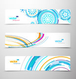 Set of abstract colorful headers. Vector art Royalty Free Stock Image