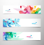 Set of abstract colorful headers. Stock Photos