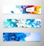 Set of abstract colorful headers. Royalty Free Stock Photo
