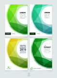 Set of abstract colorful layout brochure, magazine, flyer design Stock Photo
