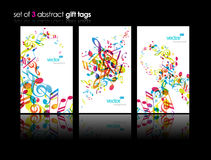 Set of abstract colorful music tags. Royalty Free Stock Photo
