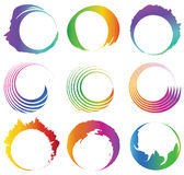 Set of abstract colorful round spiral with free sp. Ace. Eps10 Stock Photography