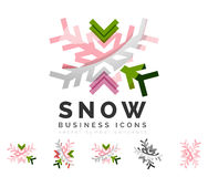 Set of abstract colorful snowflake logo icons Stock Images