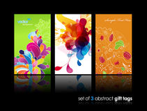 Set of abstract colorful splash cards. Stock Image