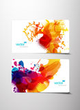 Set of abstract colorful splash gift cards. Royalty Free Stock Photography