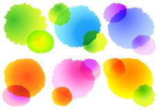 Colorful watercolor splashes, vector. Set of abstract colorful watercolor splashes, vector design elements Royalty Free Stock Images