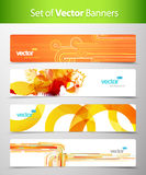 Set of abstract colorful web headers. Vector art Stock Images