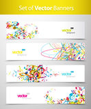 Set of abstract colorful web headers. Royalty Free Stock Photos