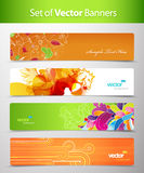 Set of abstract colorful web headers. Vector artSet of abstract colorful web headers Royalty Free Stock Image