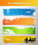 Set of abstract colorful web headers. Royalty Free Stock Image