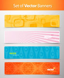 Set of abstract colorful web headers. Vector art Royalty Free Stock Images