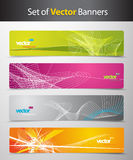 Set of abstract colorful web headers. Vector art Royalty Free Stock Photos