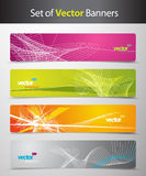 Set of abstract colorful web headers. Royalty Free Stock Images