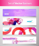Set of abstract colorful web headers. Vector art Stock Photos