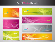 Set of abstract colorful web headers. And gift cards Stock Image