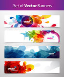 Set of abstract colorful web headers. vector illustration