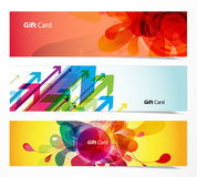 Set of abstract colorful web headers. Stock Photography