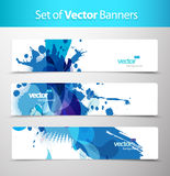 Set of abstract colorful web headers. Vector art Stock Image