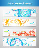 Set of abstract colorful web headers. Vector art Royalty Free Stock Photography